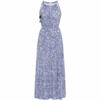 プーペット セント バース Poupette St Barth レディース ワンピース ミドル丈 ワンピース・ドレス Rachel floral midi dress Blue Aspen