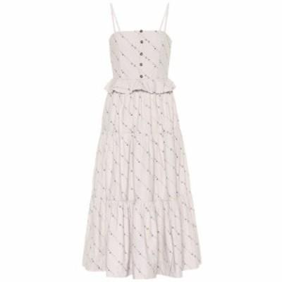ガニー Ganni レディース ワンピース ワンピース・ドレス Floral cotton midi dress Vapor Blue