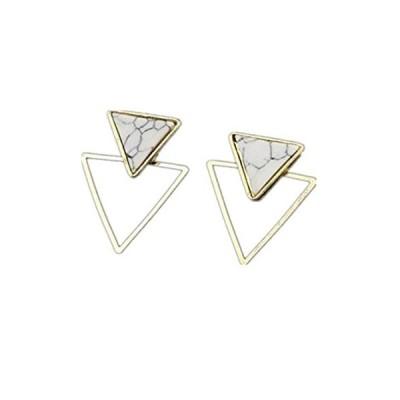 Myhouse Triangle Geometric Earrings for Women Femal Turquoise Earrings