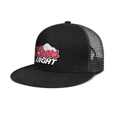 jdadaw Coors-ライトビール-ロゴ-女性男性 調節可能なフラットビル野球帽 ヴィンテージスナップバック トラッカーハット US サイズ: O