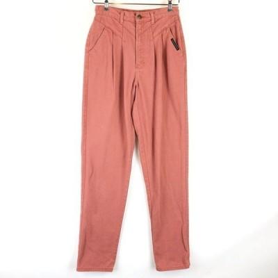 ROCKY MOUNTAIN テーパードデニムパンツ ツータック 切替えデザイン 80年代 ピンク系 レディースW26 n011926