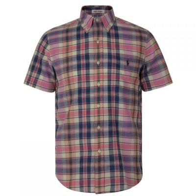 ラルフ ローレン POLO RALPH LAUREN メンズ 半袖シャツ トップス Madras Short Sleeved Shirt Pink