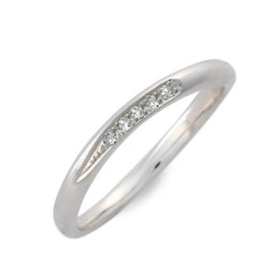 リング 指輪 レディース white clover シルバー ダイヤモンド 4月の誕生石 誕生日プレゼント ギフト