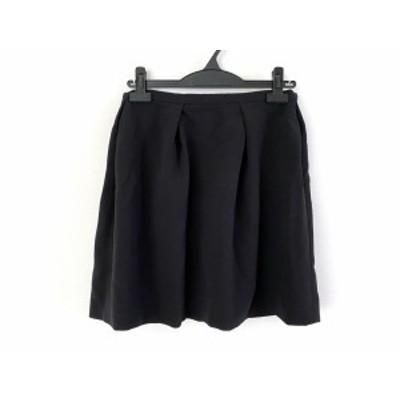 エストネーション ESTNATION スカート サイズ38 M レディース 美品 黒【中古】20200319