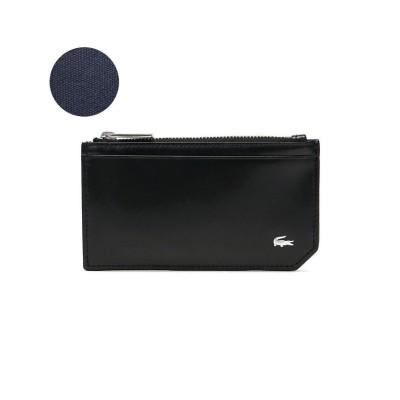 (LACOSTE/ラコステ)ラコステ 財布 LACOSTE ファスナー 本革 Men's Premium 2 フラグメントケース コインケース カードケース NH0112K/ユニセックス ブラック