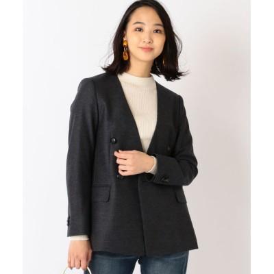 SHIPS for women / DOMANI×SHIPS ノーラペルダブルジャケット WOMEN スーツ/ネクタイ > スーツジャケット