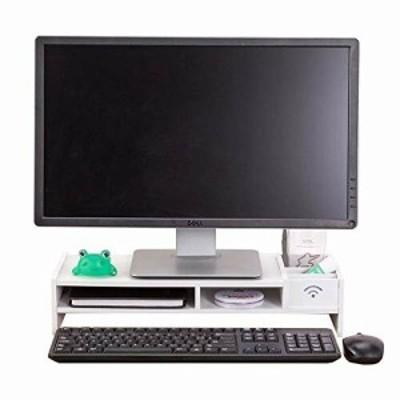 GY PCモニター台 幅48cm 奥行20cm 卓上 パソコンディスプレイ台 ロータイプ モニタースタンド 机上 机上台 引き出し 引き出し付き ノート