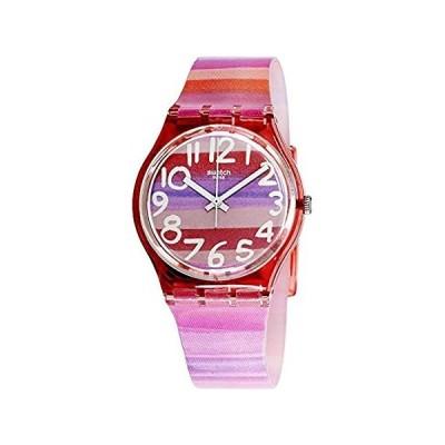 Swatch Women's GP140 Astilbe Pink Plastic Watch 好評販売中