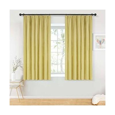 Topfinel カーテン 1級遮光 無地 麻っぽい UVカット 遮像 遮熱 断熱 省エネ おしゃれ 可愛い 洗える 幅100×丈130cm 2