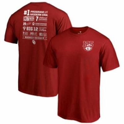 Fanatics Branded ファナティクス ブランド スポーツ用品  Oklahoma Sooners Fanatics Branded 125th Football Season Champ Stats T-Shi