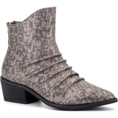 オリビアミラー Olivia Miller レディース ブーツ ショートブーツ シューズ・靴 'Take A Bow' Ankle Boots Grey