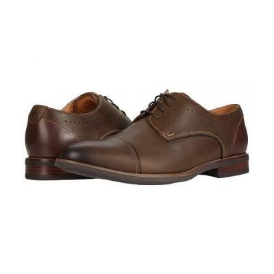 Florsheim フローシャイム メンズ 男性用 シューズ 靴 オックスフォード 紳士靴 通勤靴 Uptown Cap Toe Oxford - Brown Crazy Horse Pull Up