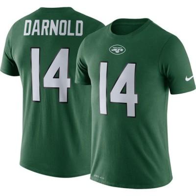 ナイキ Nike メンズ Tシャツ トップス New York Jets Sam Darnold #14 Logo Green T-Shirt