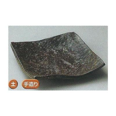 和食器07107-147 南蛮芦正角向付 /17×17×4.5cm土物手造り 料理道具・魚料理・刺身皿・光