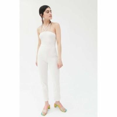 リサ セイ ガウ Lisa Says Gah レディース オールインワン ジャンプスーツ ワンピース・ドレス simone knit strappy back jumpsuit Ivory