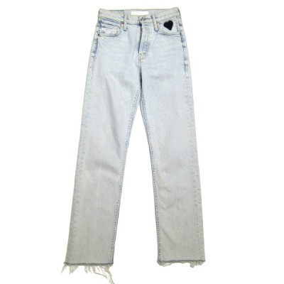 mother MOTHER Superior The Tomcat Ankle Fray Jeans ブルー サイズ:23 (三宮店) 200802