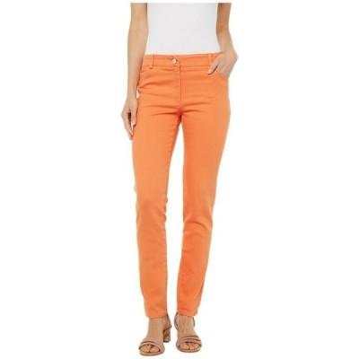エリオットローレン レディース デニムパンツ ボトムス Stretch Denim Five-Pocket Jeans in Orange