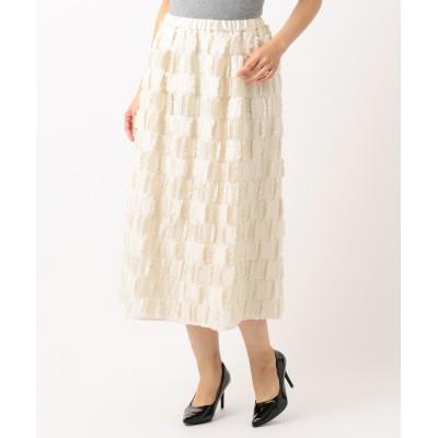 【Class Lounge】WOOL CUT JACQUARD スカート