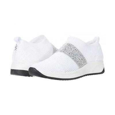 Anne Klein アン クライン レディース 女性用 シューズ 靴 スニーカー 運動靴 Bask - White