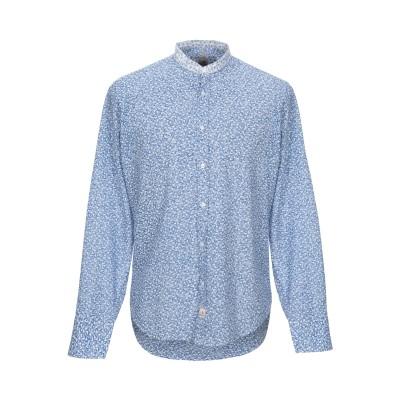 PANAMA シャツ ブルー L コットン 100% シャツ