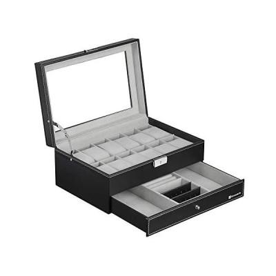 EUNOMIA 腕時計収納ケース 時計ケース 12本 時計 収納ボックス 2段式 アクセサリー 収納 高級 (12本 2段式 12本 2段式)