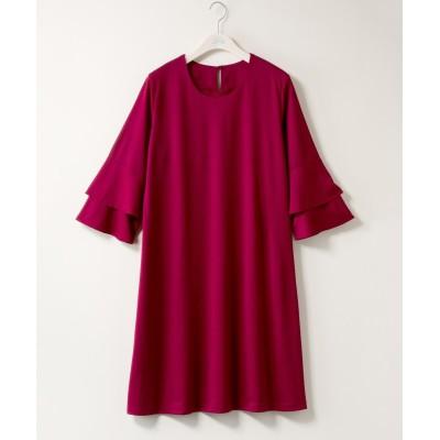 【大きいサイズ】 bitter syrup  袖フリルカットソーワンピース ワンピース, plus size dress