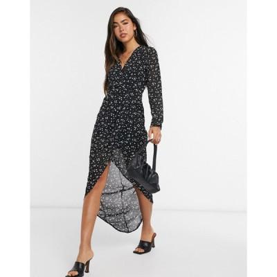 ガールインマインド ミディドレス レディース Girl In Mind long sleeve wrap dress in print  エイソス ASOS sale