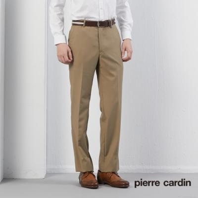 Pierre Cardin皮爾卡登 男裝 平口西裝褲--卡其色(5195847-84)