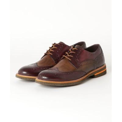 TAKA-Q / アラウンドザシューズ/around the shoes MADE IN ITALY   カラーソール ウイングチップシューズ MEN シューズ > ドレスシューズ
