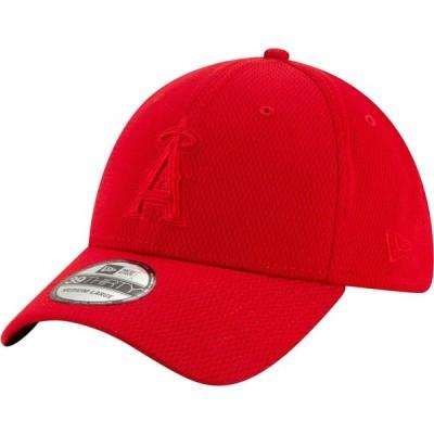 ニューエラ New Era メンズ キャップ 帽子 Los Angeles Angels Red 39Thirty Perftone Stretch Fit Hat
