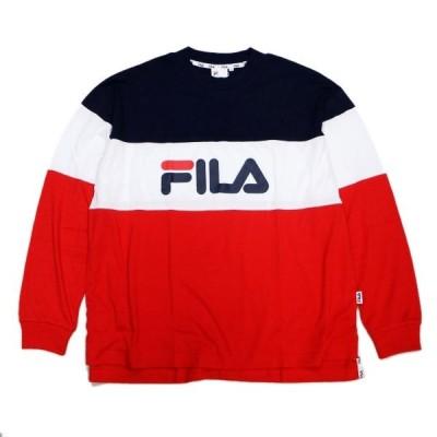 FILA フィラ Long Sleeve T-shirt ヘリテージ マルチカラーグラフィック長袖Tシャツ HERITAGE MULTI COLOR GRAPHIC L/S T-SHIRT FM9618 スポーツ SPORTS