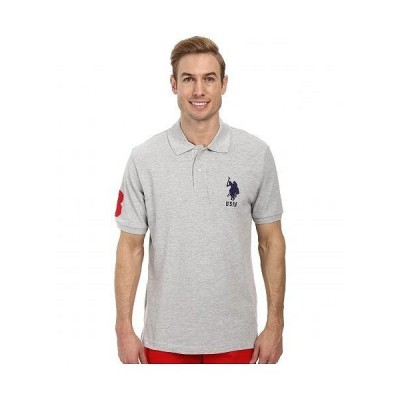 U.S. POLO ASSN. USポロ メンズ 男性用 ファッション ポロシャツ Solid Pique Polo - Light Heather Gray