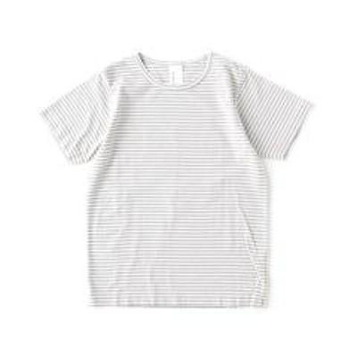 ナチュラルランドリー10%OFFクーポン対象商品 ナチュラルランドリー 半袖Tシャツ クルーネックTシャツ NATURAL LAUNDRY 7171C-002-ITK 4(L) グレー細ボーダー(912) クーポンコード:YVDDB37