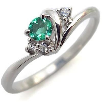 指輪・エメラルド・リング・一粒・K10・エメラルドリング
