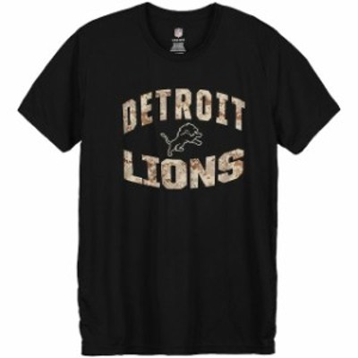 Outerstuff アウタースタッフ スポーツ用品  Detroit Lions Youth Black Camo Dri-Tek Synthetic T-Shirt