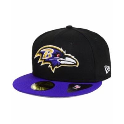 ニューエラ メンズ 帽子 アクセサリー Baltimore Ravens Team Basic 59FIFTY Fitted Cap Black/Purple