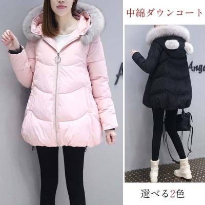 コート ダウンコート レディース 中綿コート ダウンジャケット 2019冬 40代 カジュアル 中綿ダウンコート 軽い 暖かい 大きいサイズ ファー