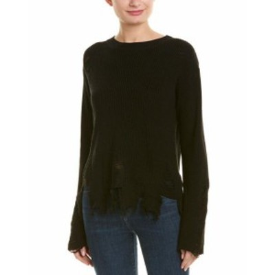 Milly ミリー ファッション トップス Milly Deconstructed Sweater L Black
