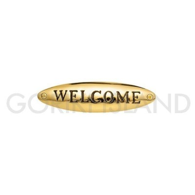 ゴーリキアイランド 真鍮 サインプレート WELCOME TD 630116