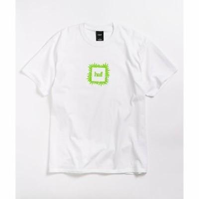 ハフ HUF メンズ Tシャツ トップス overgrown white t-shirt White