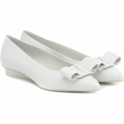 サルヴァトーレ フェラガモ Salvatore Ferragamo レディース スリッポン・フラット シューズ・靴 Viva leather ballet flats White