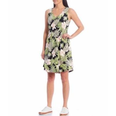 トッミーバハマ レディース ワンピース トップス Bahama Blossoms Sleeveless Short Dress Black
