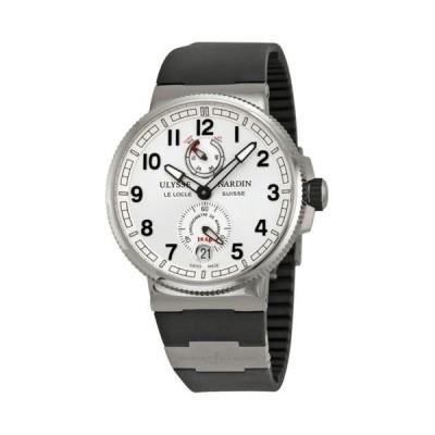 腕時計 ユリスナルダン Ulysse Nardin Marine クロノグラフmeter シルバー ダイヤル メンズ 腕時計 11831263/61