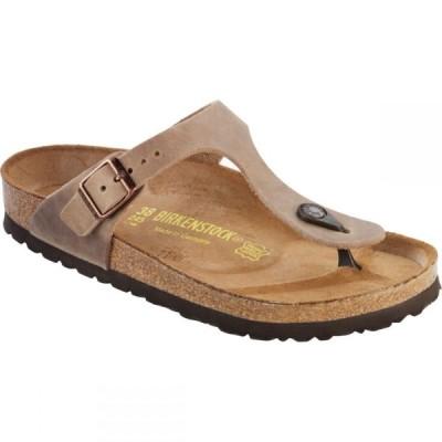 ビルケンシュトック Birkenstock レディース サンダル・ミュール シューズ・靴 Gizeh Leather Sandal Tobacco Oiled Leather