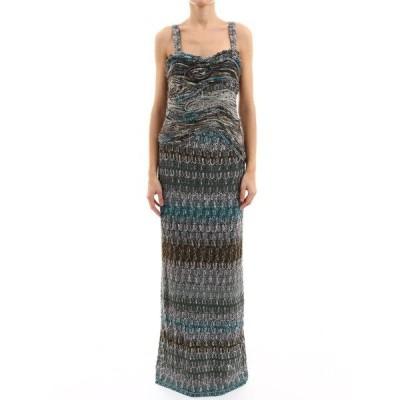 ミッソーニ レディース ワンピース トップス Missoni Striped Knit Dress -