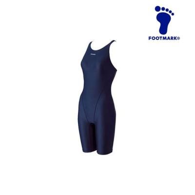 フットマーク ジュニア 水着 水泳 フィットネス スマイルスイムオールインワン つなぎ はっ水加工 女の子 FOOTMARK 101565J1