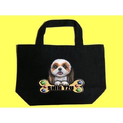犬 トートバッグ シーズー12 カラフル キャンバス お散歩バッグ/可愛い バック オーダーメイド オリジナル グッズ