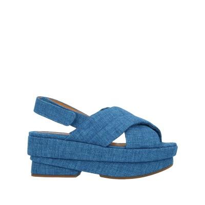 CHIE MIHARA サンダル ブルー 35 紡績繊維 サンダル