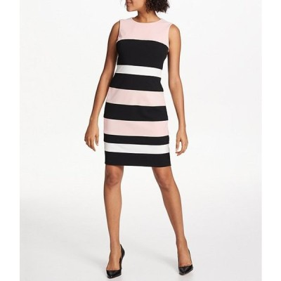 トミー ヒルフィガー レディース ワンピース トップス Colorblock Stripe Sleeveless Sheath Dress