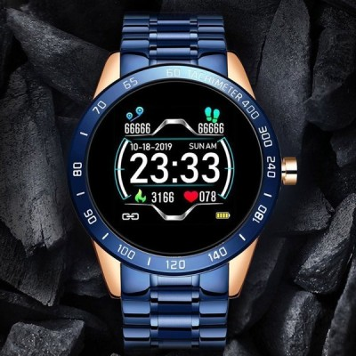 スマートウォッチ 万歩計 日本製センサー 腕時計 心拍計 血圧計 血中酸素濃度計 温度計付き 体温管理 英語説明書 多機能 IP67防水 着信通知 睡眠検測